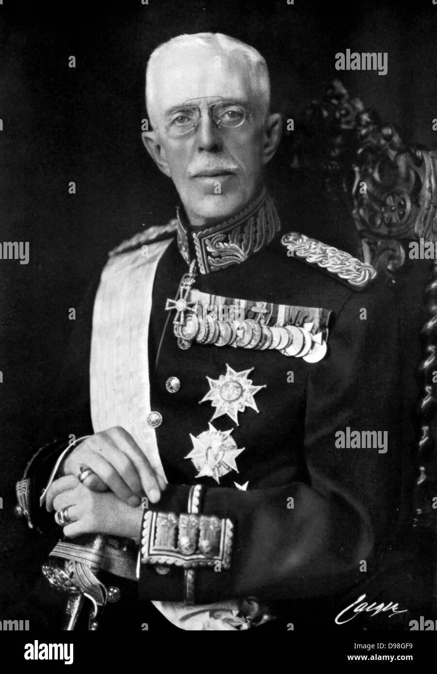 Gustaf V 1858 - 1950) King of Sweden from 1907. - Stock Image