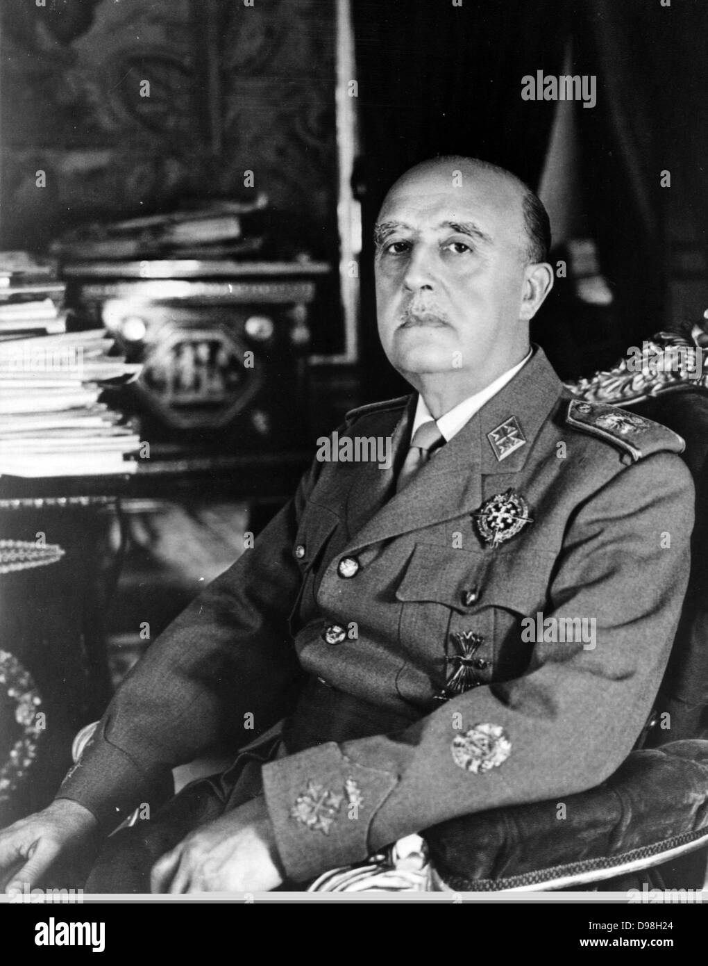 Francisco Franco (4 December 1892 – 20 November 1975), Spanish dictator, military general and head of state of Spain - Stock Image
