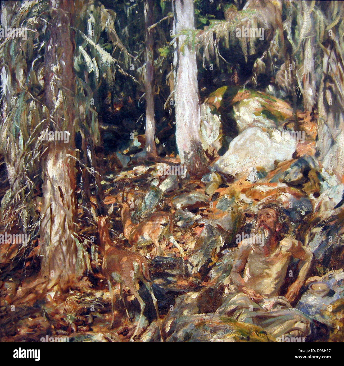 John Singer Sargent (January 12, 1856 – April 14, 1925) was an American painter The Hermit 1908 - Stock Image