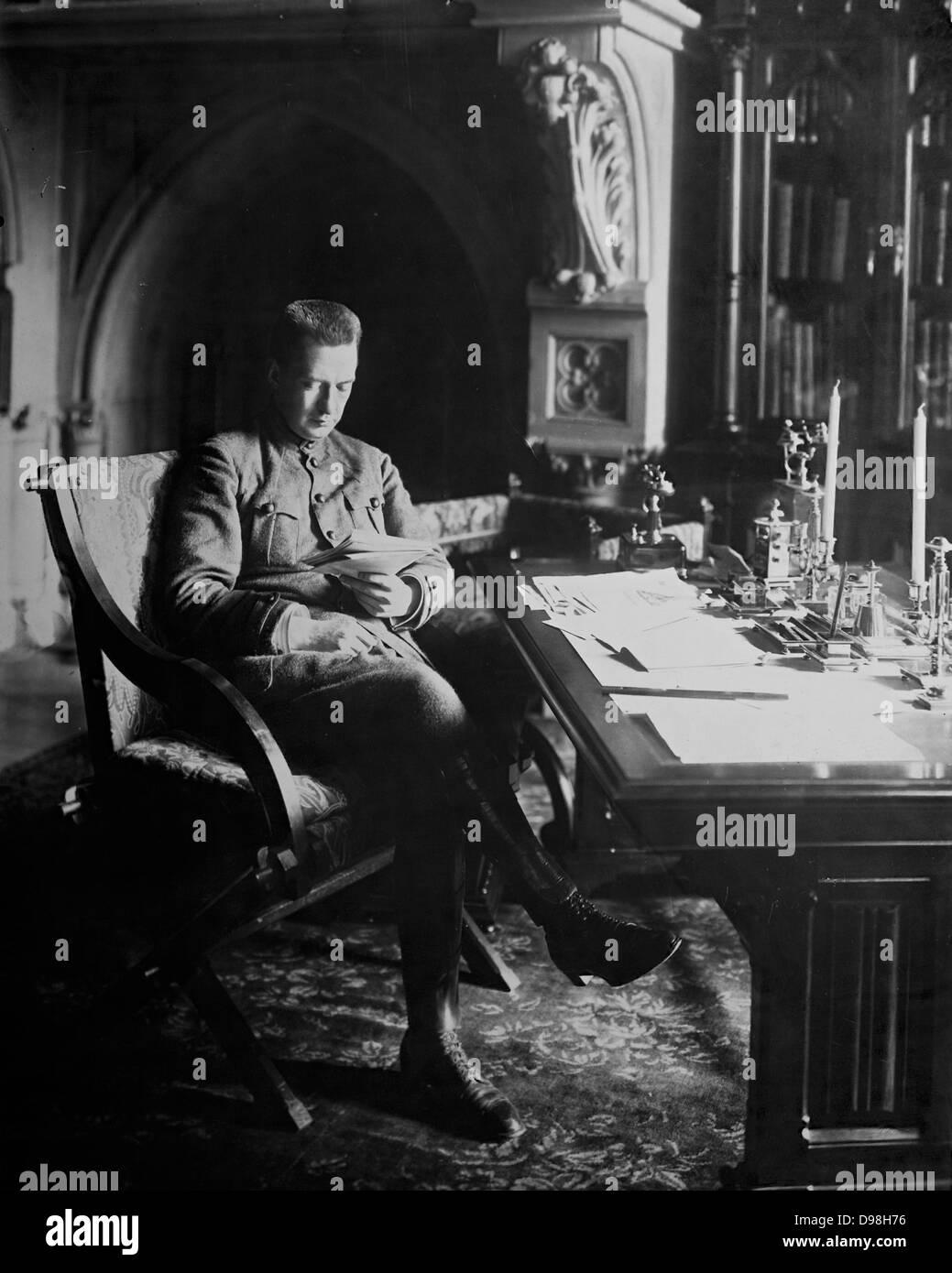 Alexander Feodorovich Kerensky (1881-1970) Russian revolutionary leader. Minister for war in 1917. - Stock Image
