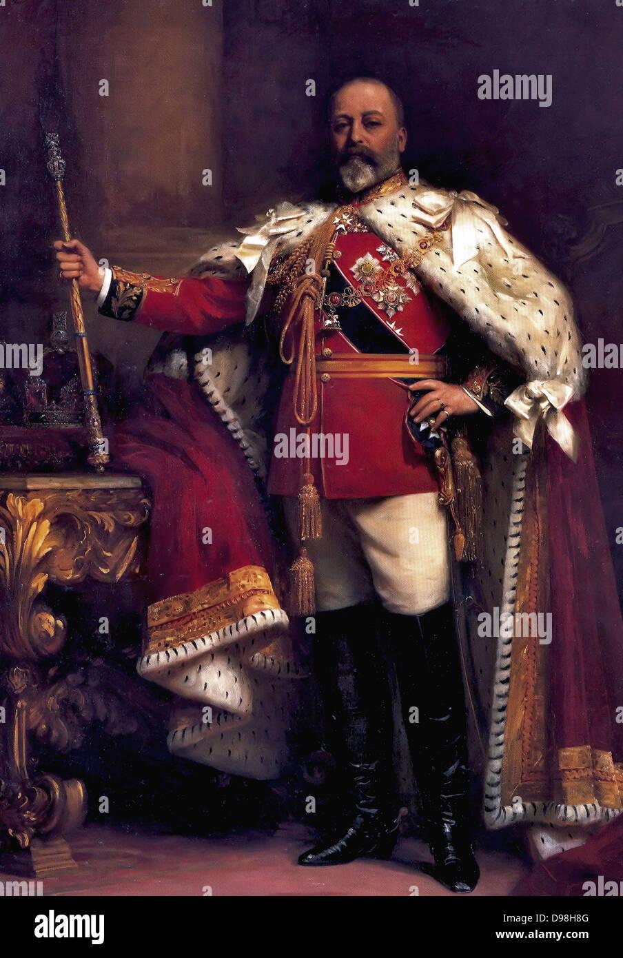 King Edward VII of England reigned 1901-1910 - Stock Image