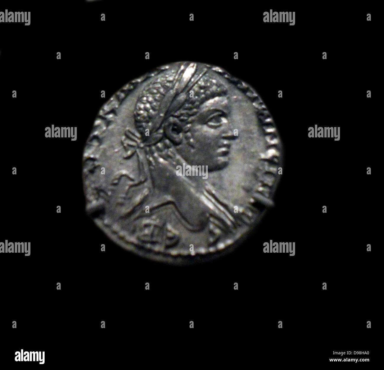 Gold medallion of Constantius I and Galerius as Caesars. AD 293 Roman - Stock Image