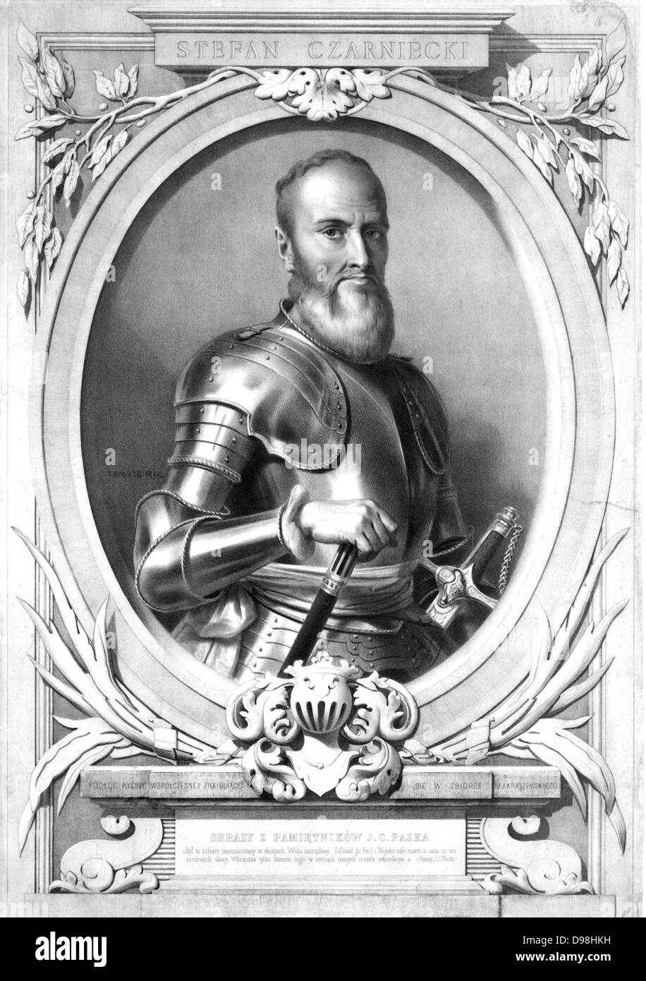 Stefan Czarniecki (1599-1665) Polish Lithuanian Commonwealth general and nobleman. - Stock Image
