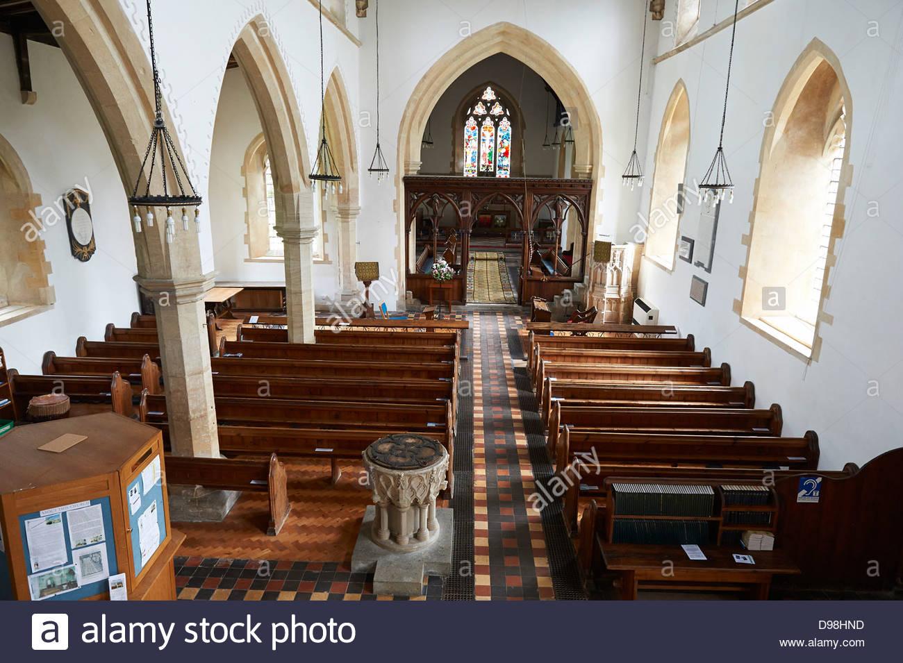 St Peter and St Paul Parish Church in Long Compton, Warwickshire UK - Stock Image