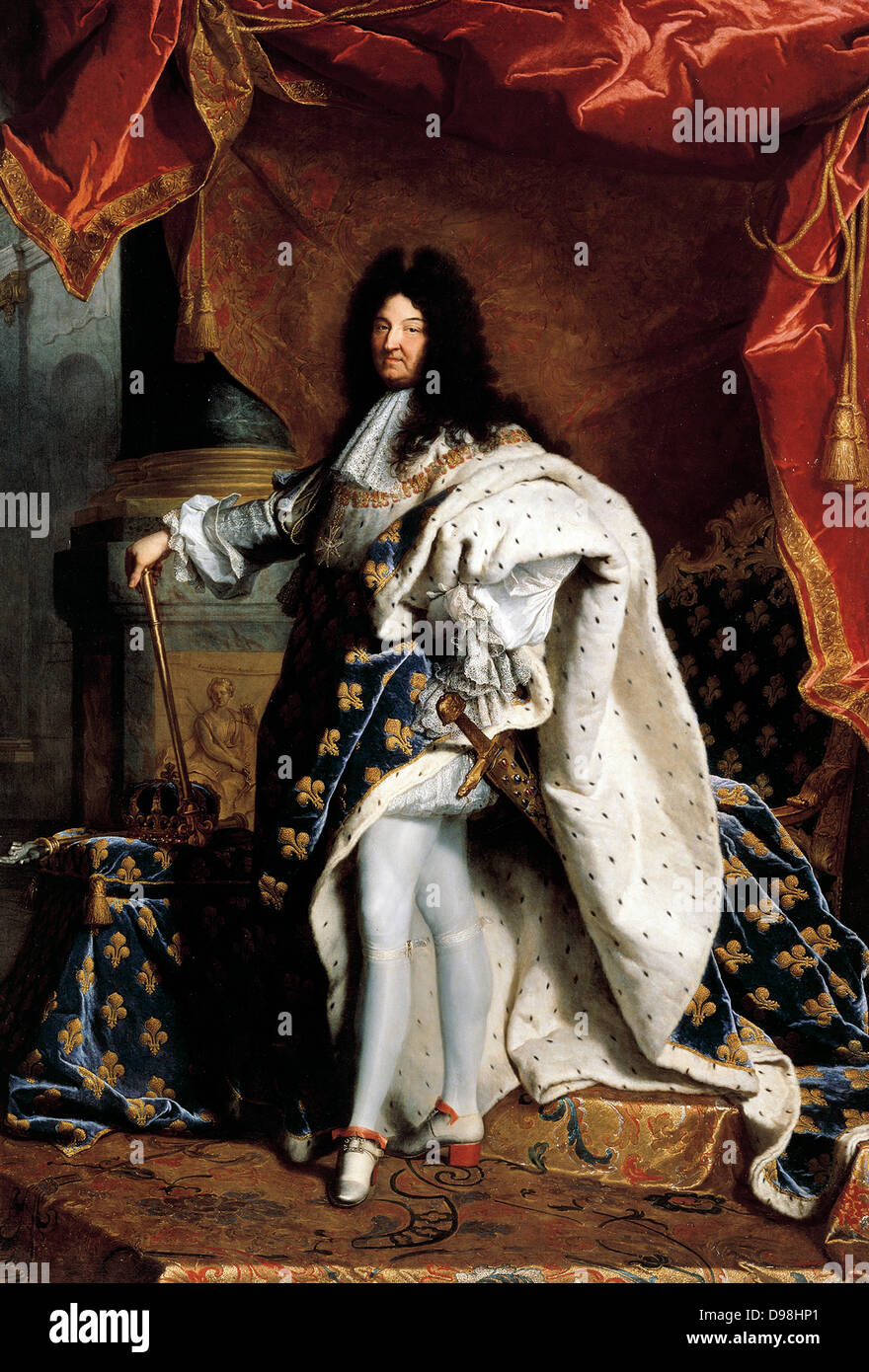 Portrait of Louis XIV King of France, 1701 by Hyacinthe Rigaud (1659–1743)  French painter Stock Photo