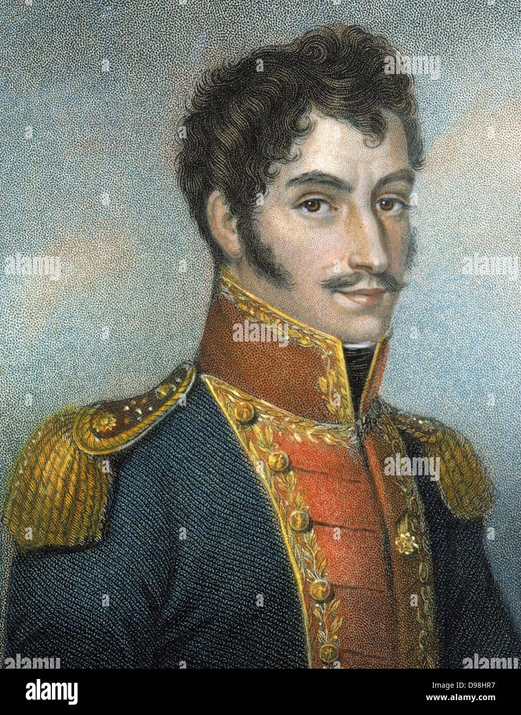 Simon Bolivar. 1783 - 1830, Venezuelan military and political leader. Together with José de San Martín, he played Stock Photo