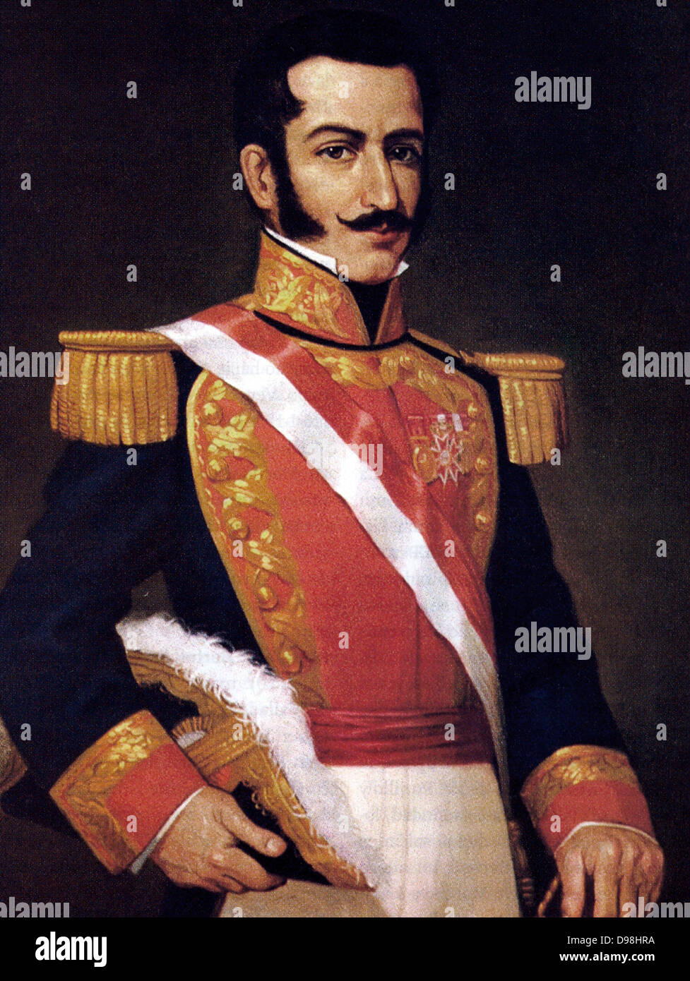 Felipe Santiago de Salaverry (1805-1836) Peruvian soldier, politician and, from 1835 to 1836, President of Peru. - Stock Image