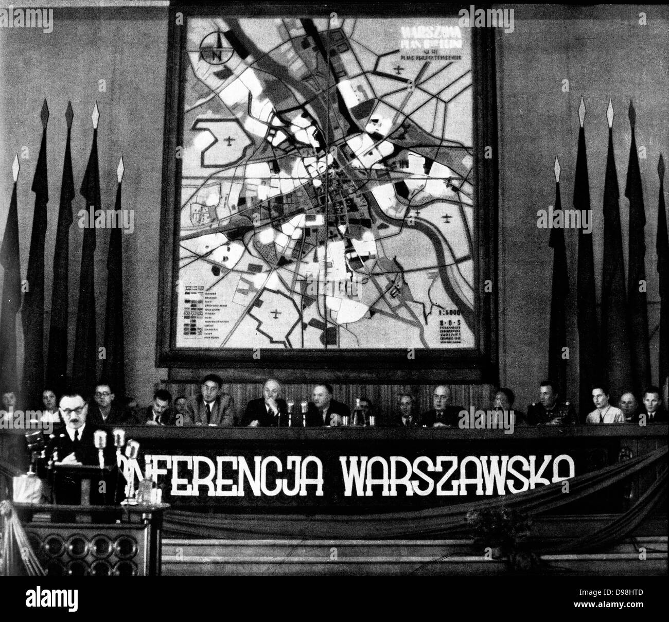 Communist Party conference in Warsaw on July 3, 1949 - Stock Image