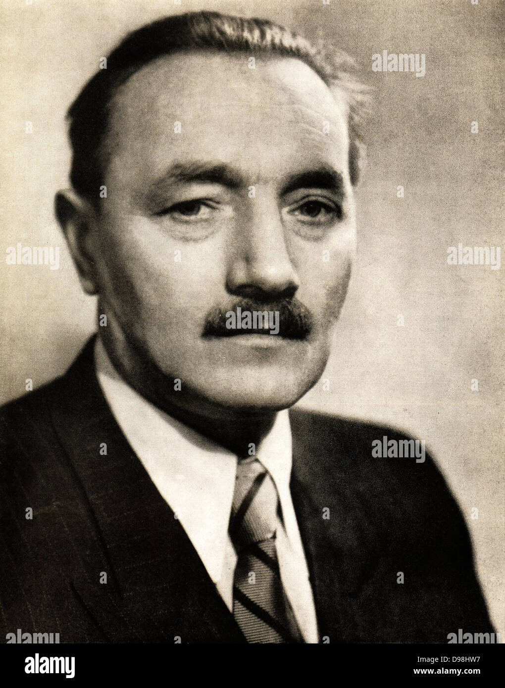 Boles?aw Bierut 1892 - 1956. Polish Communist leader. President of Poland 1947 – 1952 - Stock Image