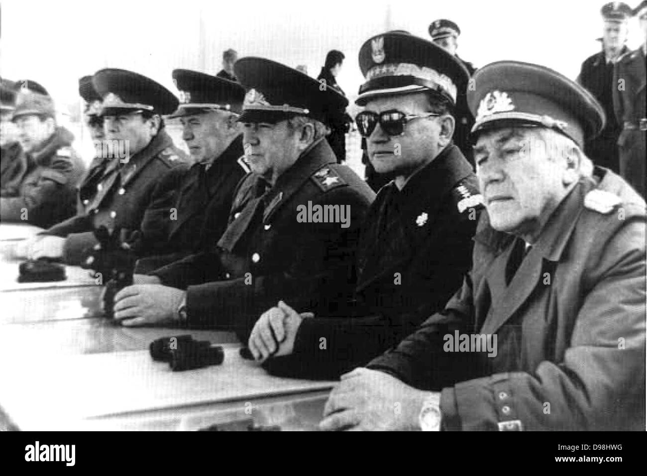 Wojciech Jaruzelski born 1923former Commander-in-chief of the communist Polish People's Army and the chairman - Stock Image