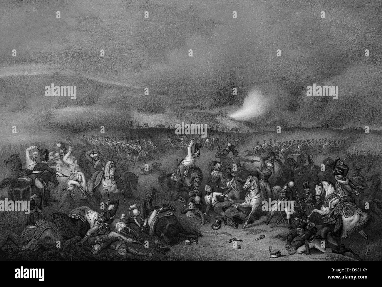 Napoléon at the Battle of Austerlitz, .The Battle of Austerlitz, also known as the Battle of the Three Emperors, - Stock Image