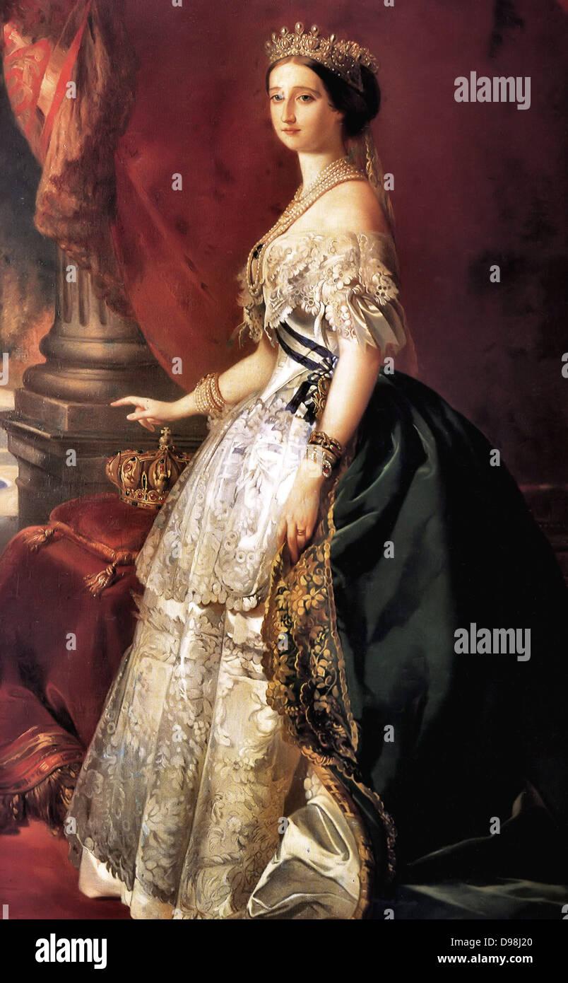 Franz Xavier Winterhalter (1805–1873)  Description German painter. The Empress Eugenie Date 1860(1860). The Empress - Stock Image