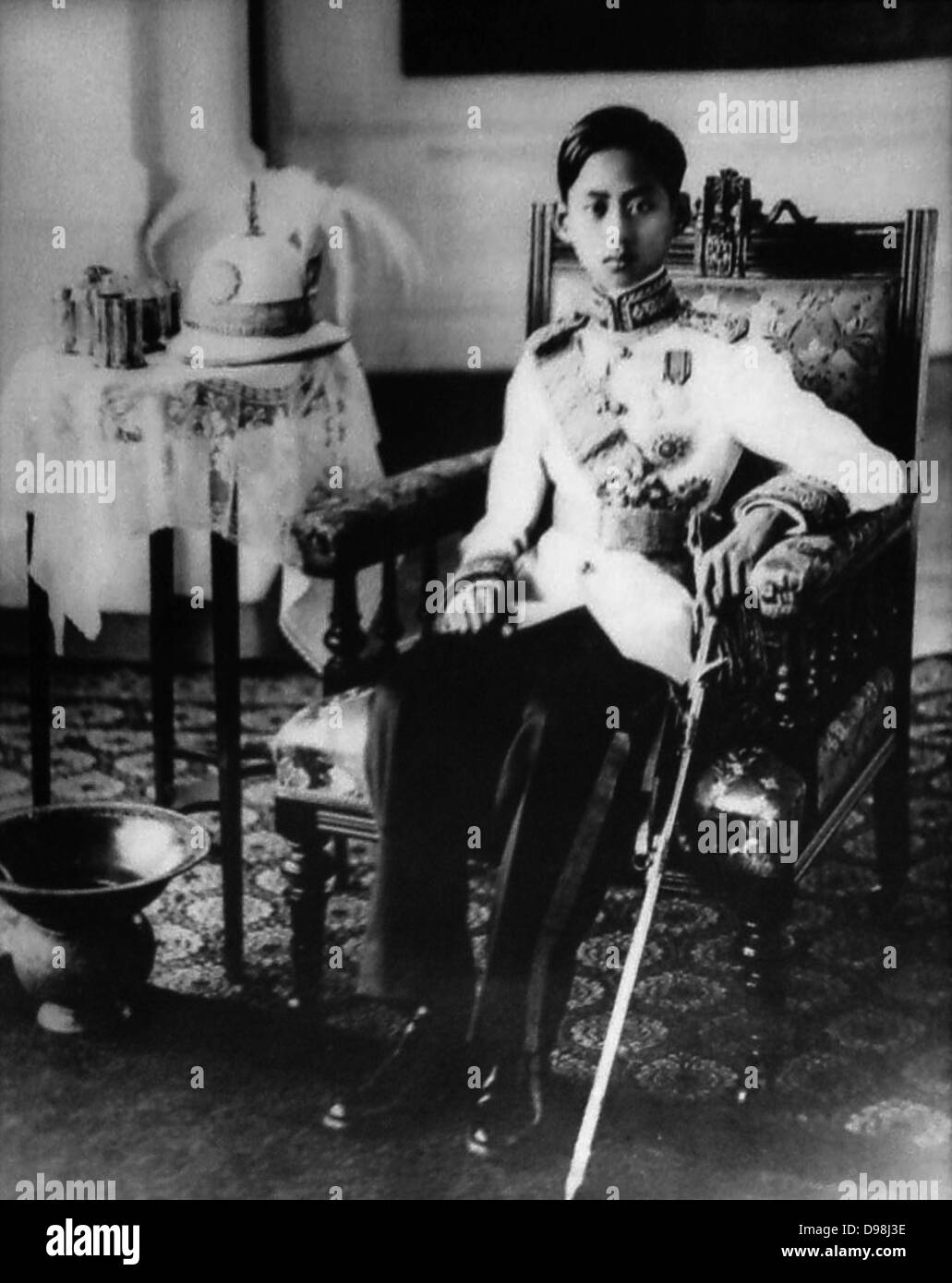Ananda Mahidol (20 September 1925–9 June 1946) was the eighth monarch of Thailand under the House of Chakri. He - Stock Image