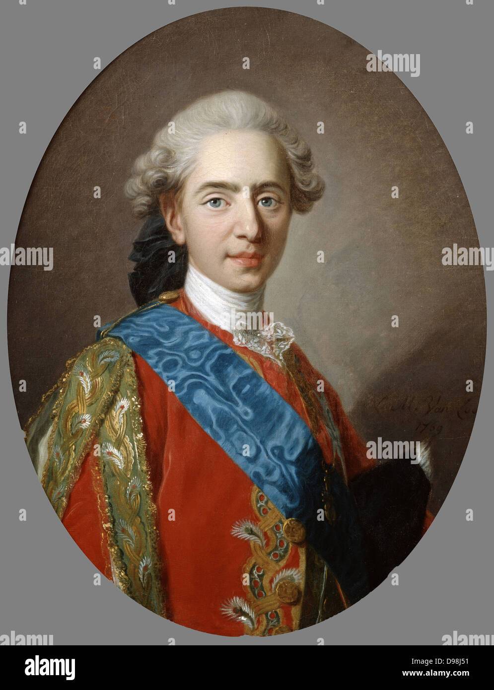 Louis XVI (1754-1793) king of France from 1774 until guillotined during the French Revolution. Louis while still - Stock Image