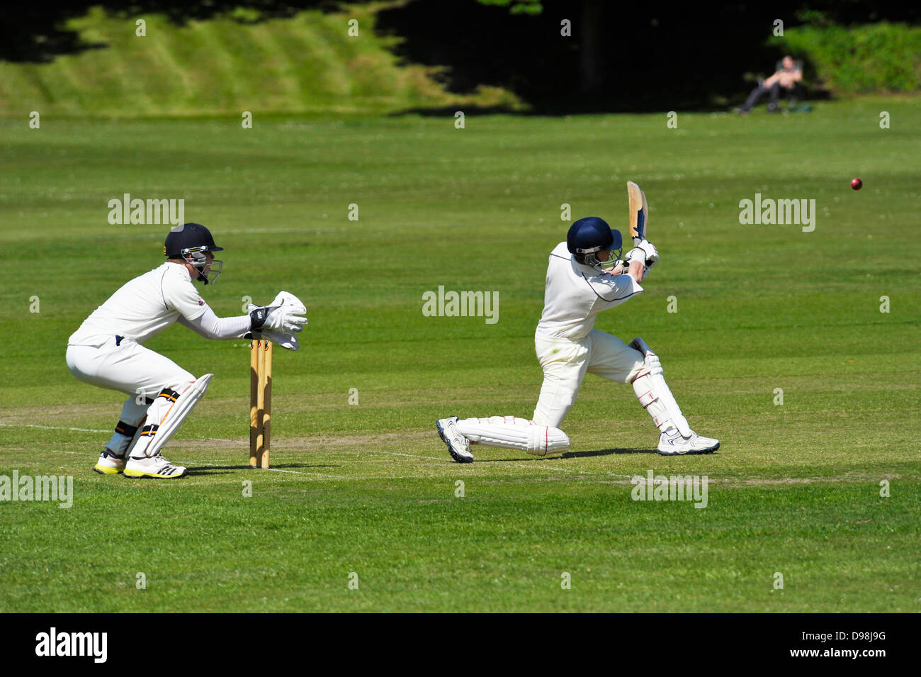 Cricket match at Harrow on the Hill - Stock Image