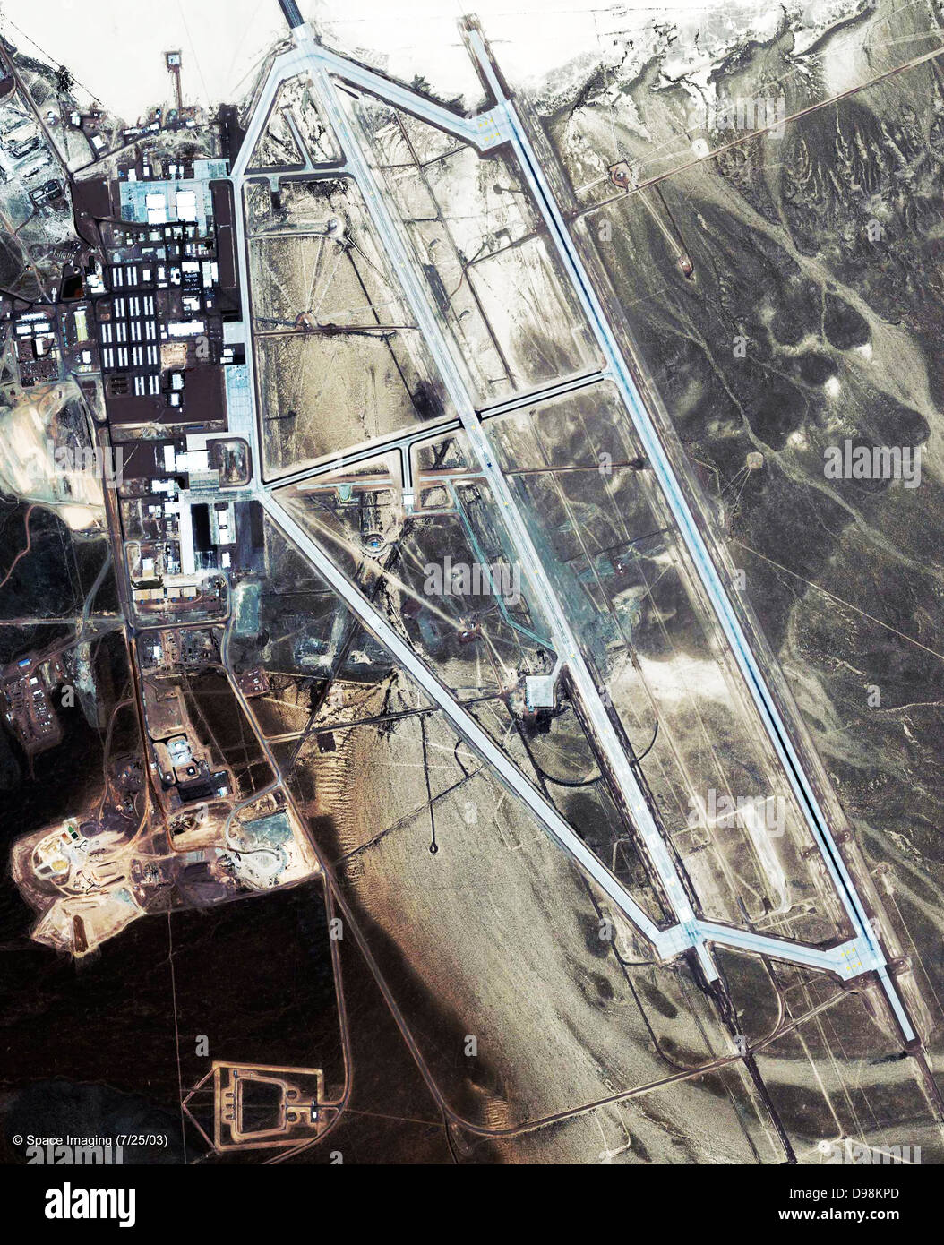 Area 51 is a military base located in southern Nevada in the western United State. The base's primary purpose - Stock Image