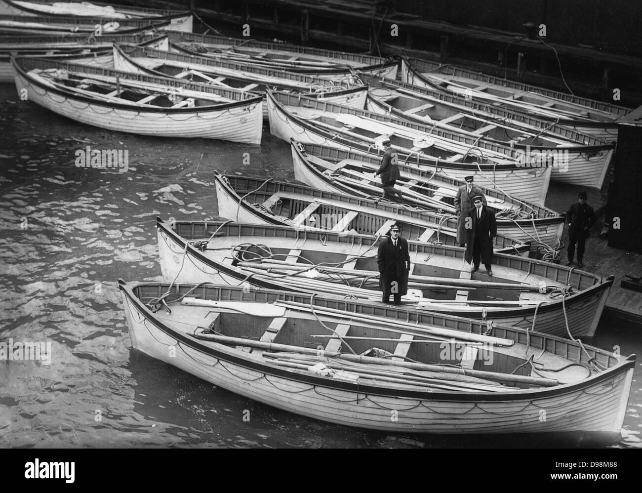 life Boats from the Titanic 1912 - Stock Image