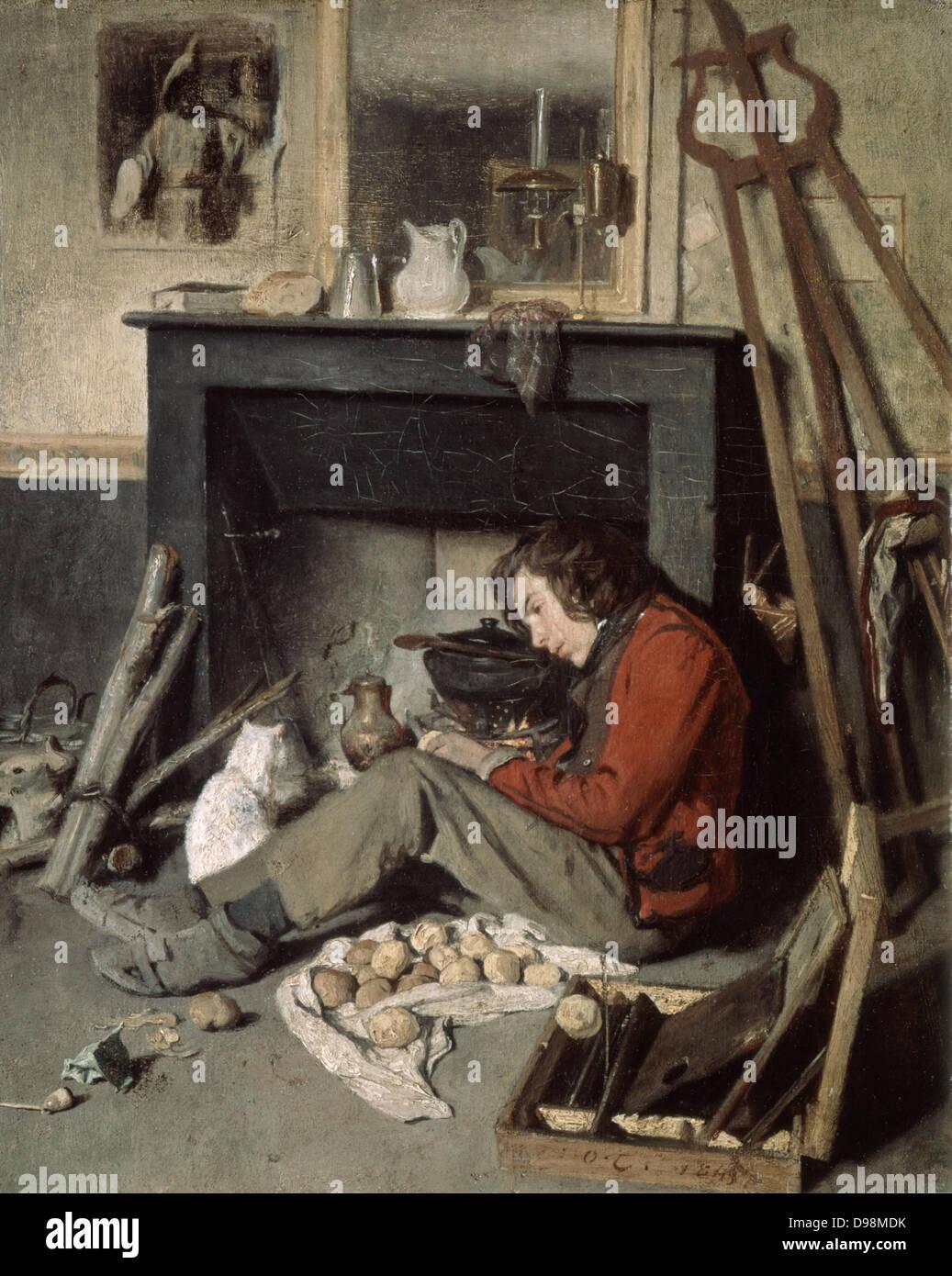The Artist's Studio' 1845. Oil on canvas. Octave Tassaert (1800-1874) French genre and portrait painter. - Stock Image