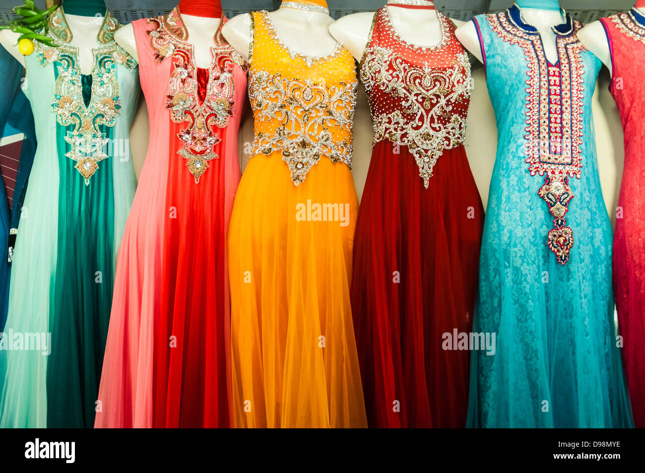 Indian traditional clothes for sale in the Market Stock Photo ...