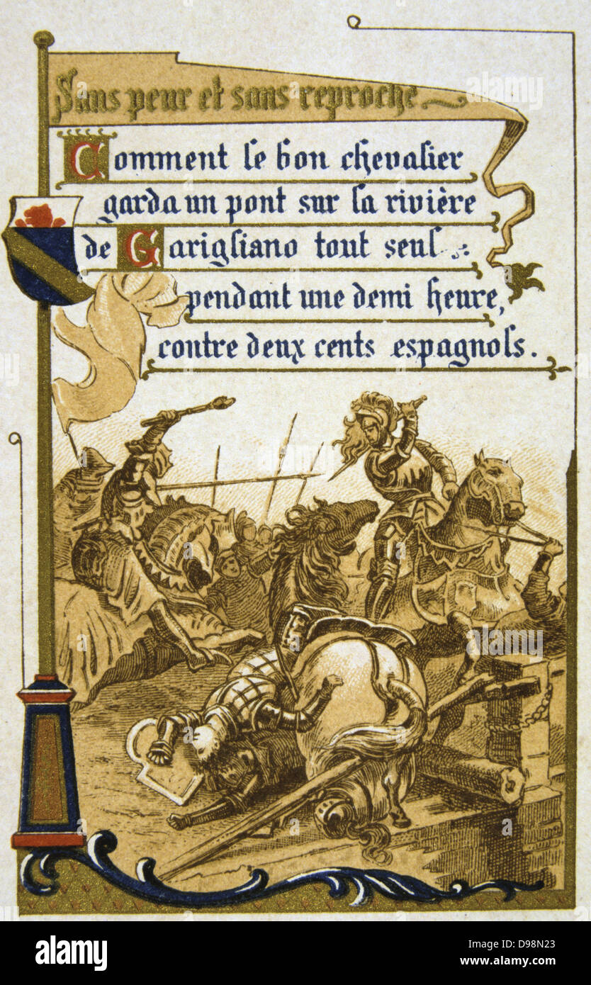 Pierre Terrail, Seigneur de Bayard (1475-1524) French hero, the 'knight without fear and beyond reproach', - Stock Image