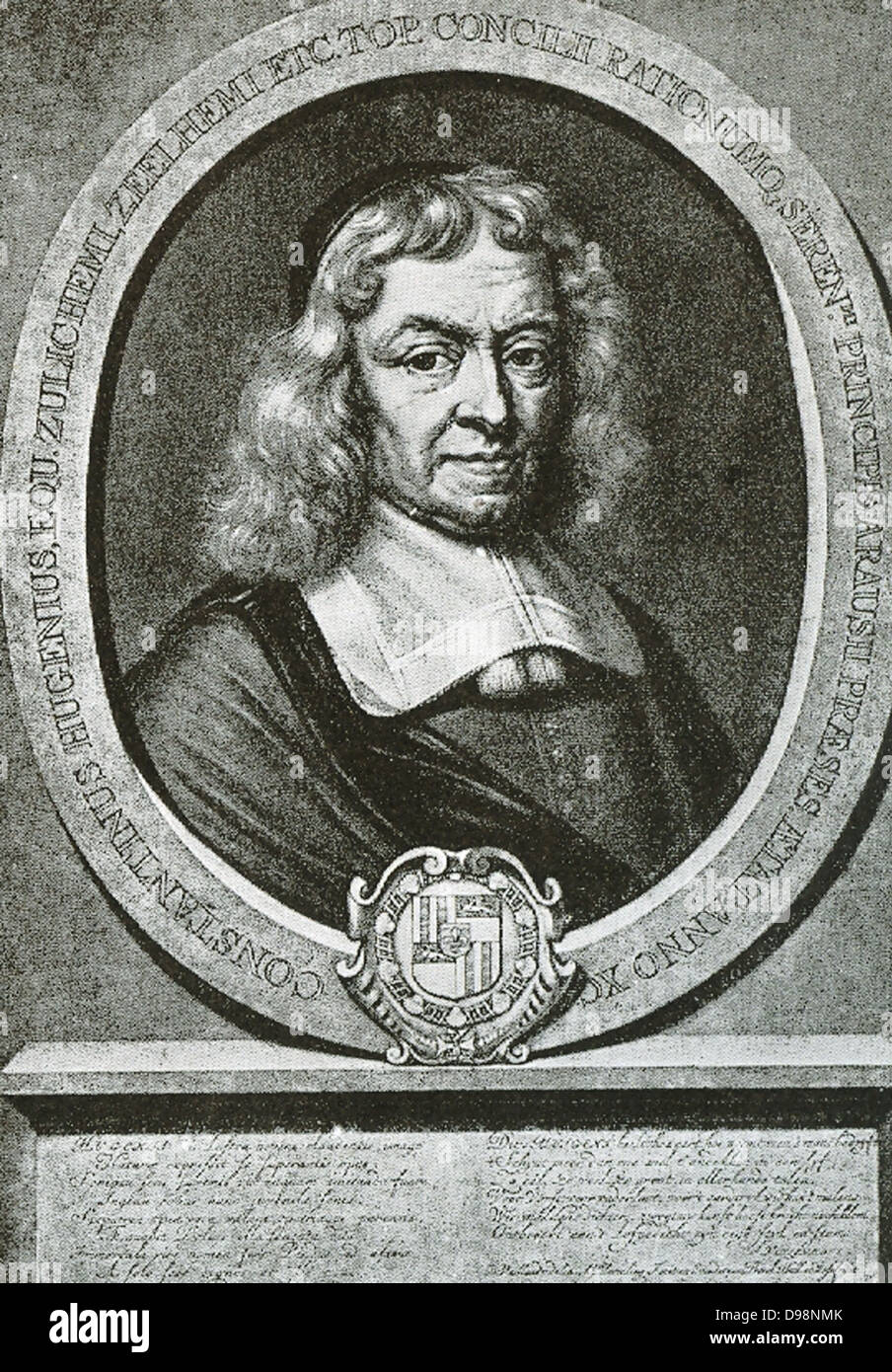 Constantijn Huygens (1596-1687) was a Dutch Golden Age poet and composer.  He was secretary to two Princes of Orange :