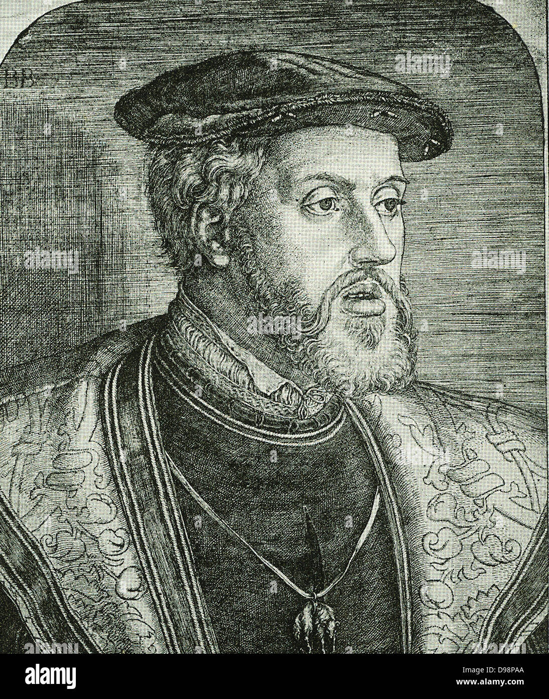 The Reformation - Charles V Shortly before 1550 a combination of circumstances united all seventeen provinces of - Stock Image
