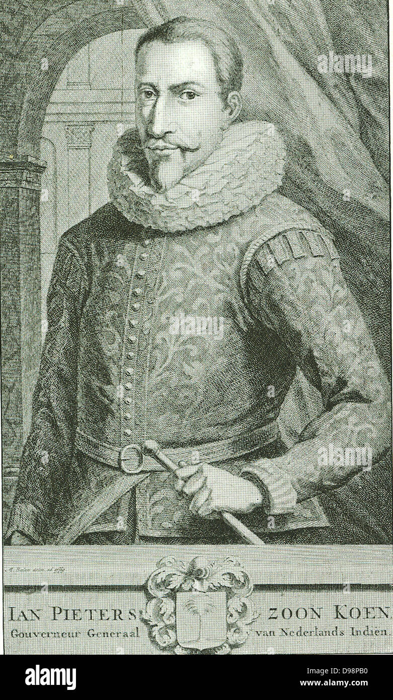 Jan Pieterszoon Koen (1587-1629) was one of the most famous and militant Governors of the Dutch East India Company. - Stock Image
