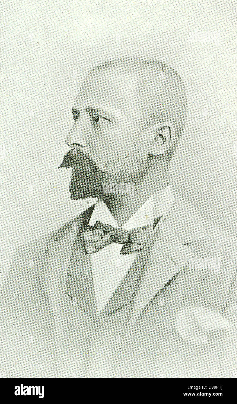 Dr Herman J Coster was a Netherlander who soon after having obtained his degree of LL.D at Leyden, emigrated to - Stock Image