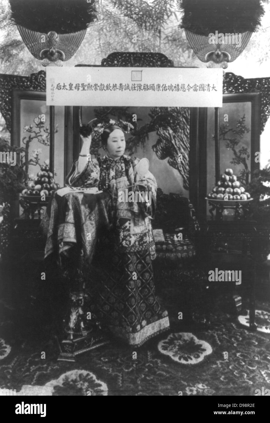 Dowager Empress Cixi (Xiao Qin Cian 1831-1908) from 1861 for nearly 40 years the de facto ruler of China. c1900. - Stock Image