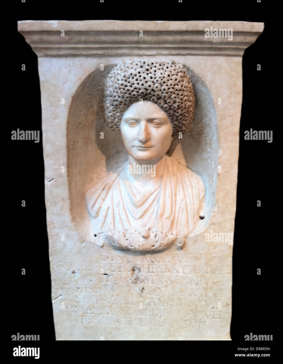 Marble Funerary stele, Flavian period, ca. 69-81 - Stock Image