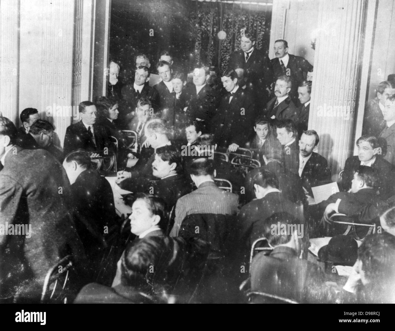 Titanic disaster, 12 April 1912: USA Senate Investigating Committee questioning survivors at the Waldorf Astoria - Stock Image