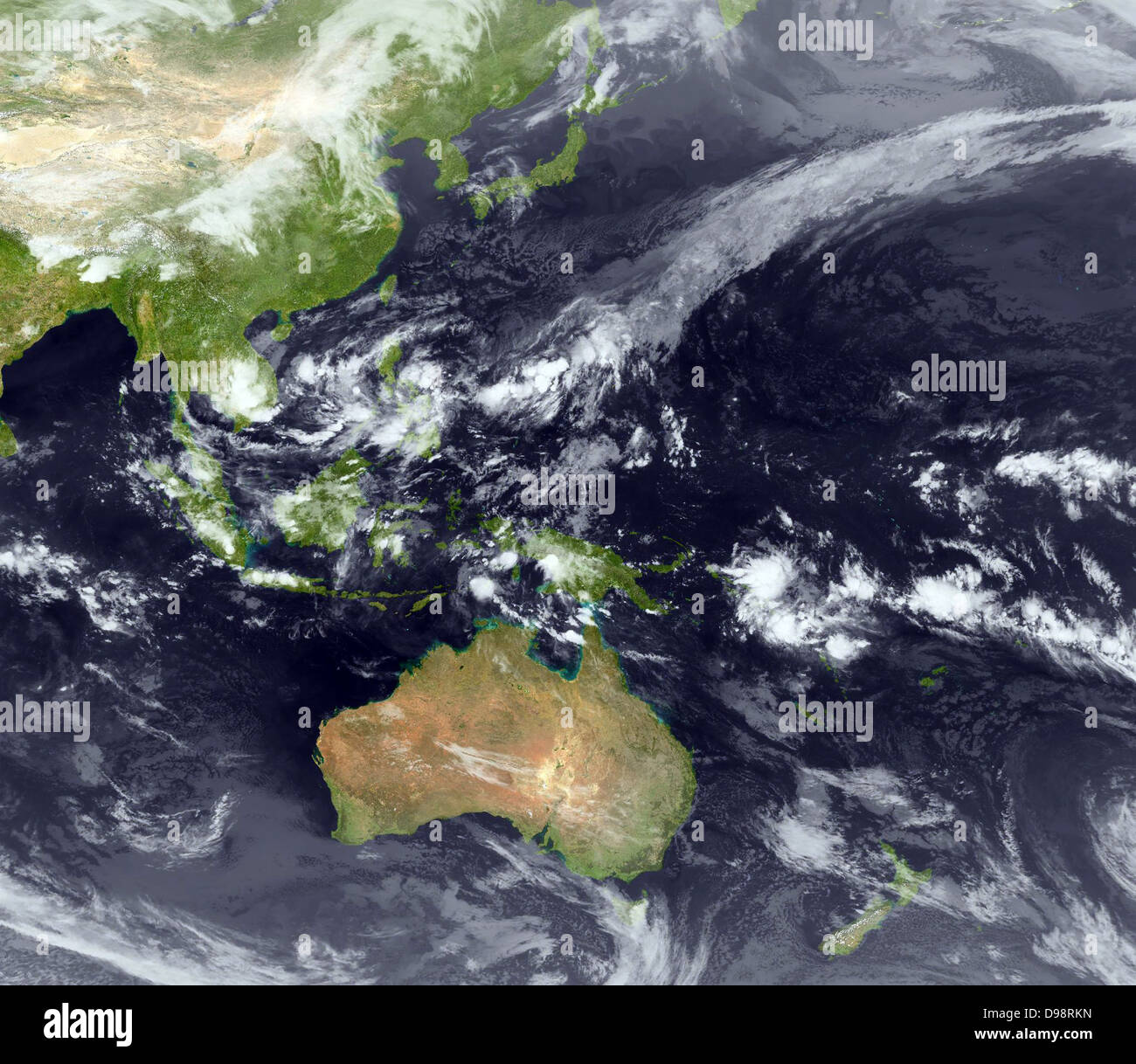 Typhoon forming over the Philippines 2009 - Stock Image