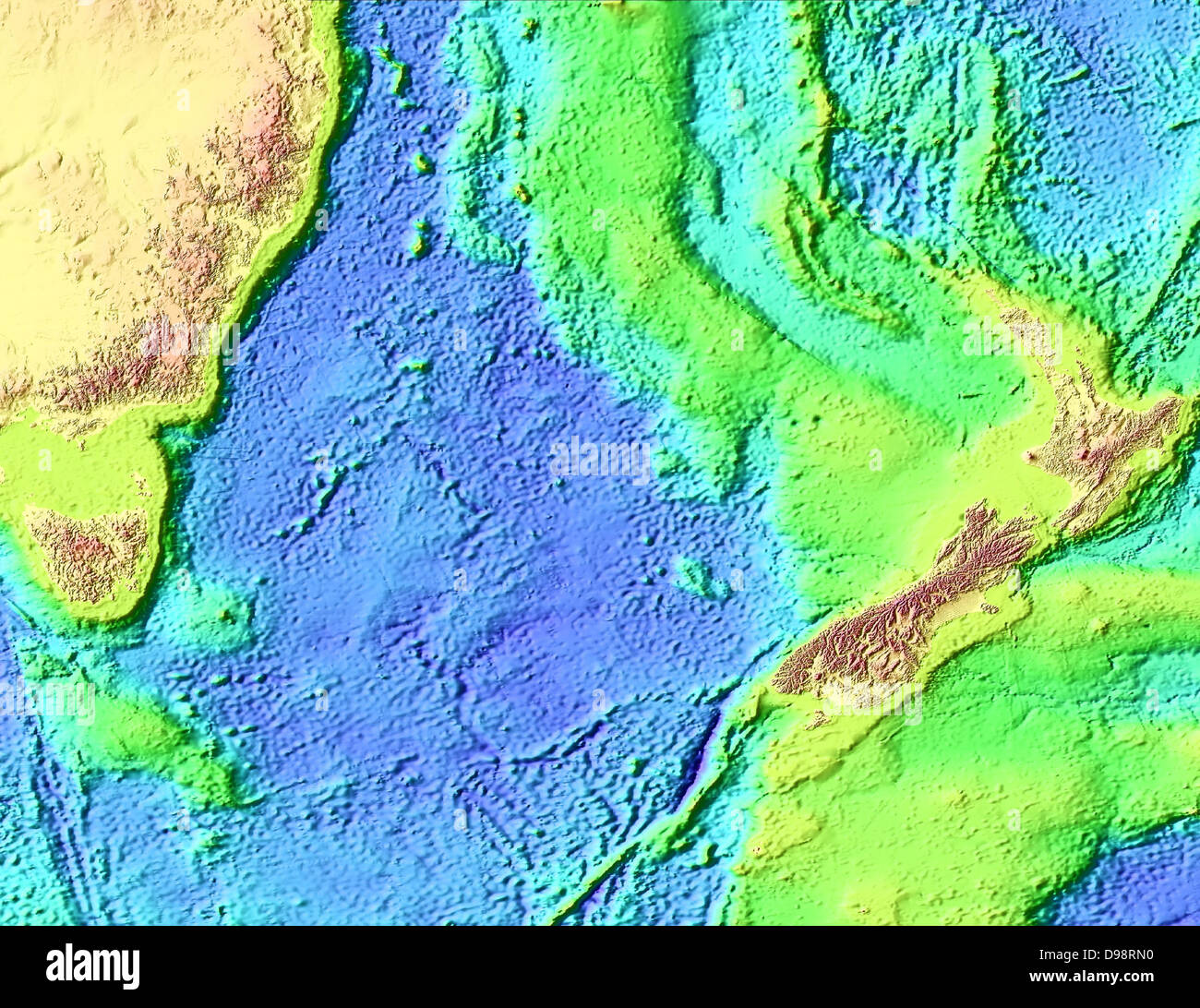Tasman Sea Map High Resolution Stock Photography And Images Alamy