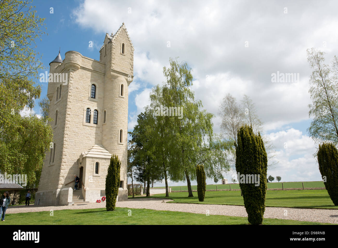 The Ulster Tower the First World War memorial to the 36th Ulster Division - Stock Image