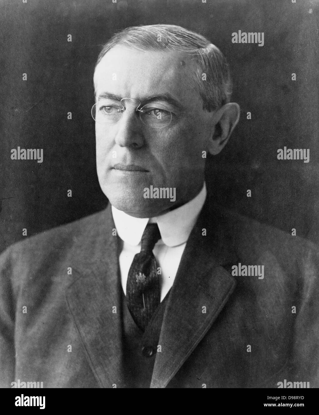 President Woodrow Wilson portrait 1912 - Stock Image