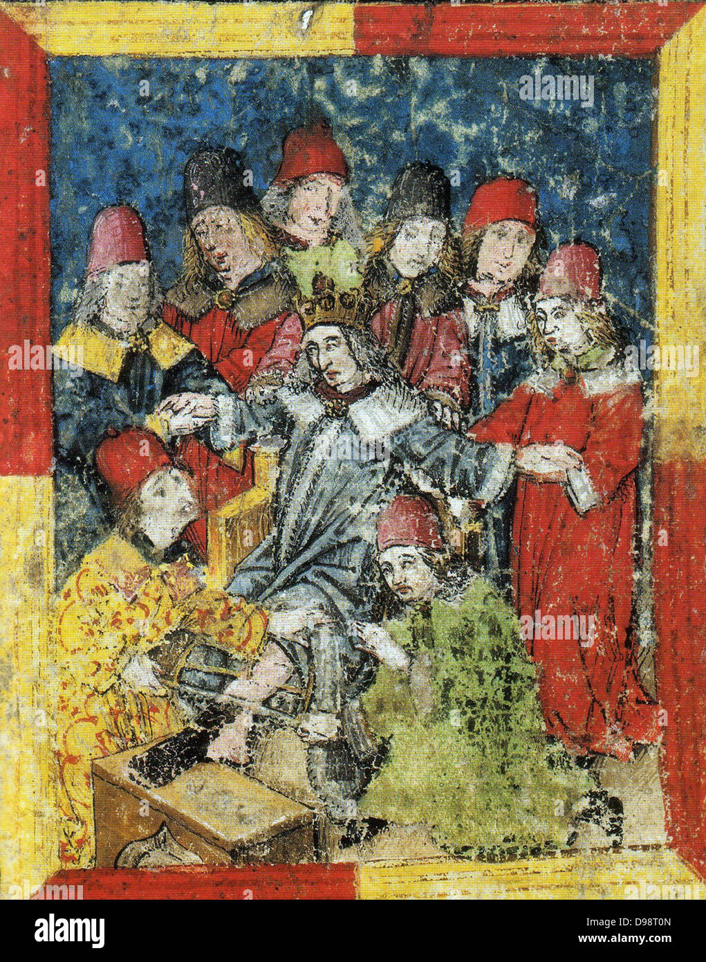 Frederick III of Habsburg (September 21, 1415 – August 19, 1493) was elected as German King as the successor of - Stock Image
