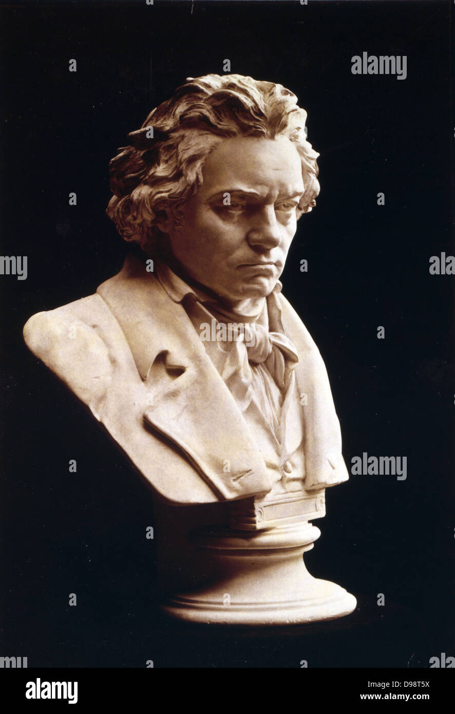 Portrait bust of Ludwig van Beethoven (1770-1827), German composer and pianist. One of the most influential western - Stock Image