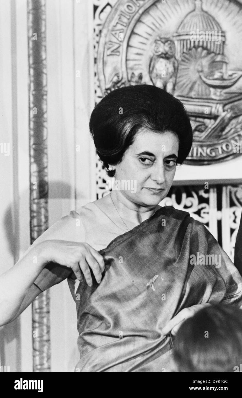 Indira Gandhi (1917-1984) Prime Minister of India 1966-1977 and 1980-1984. Indian politician. - Stock Image