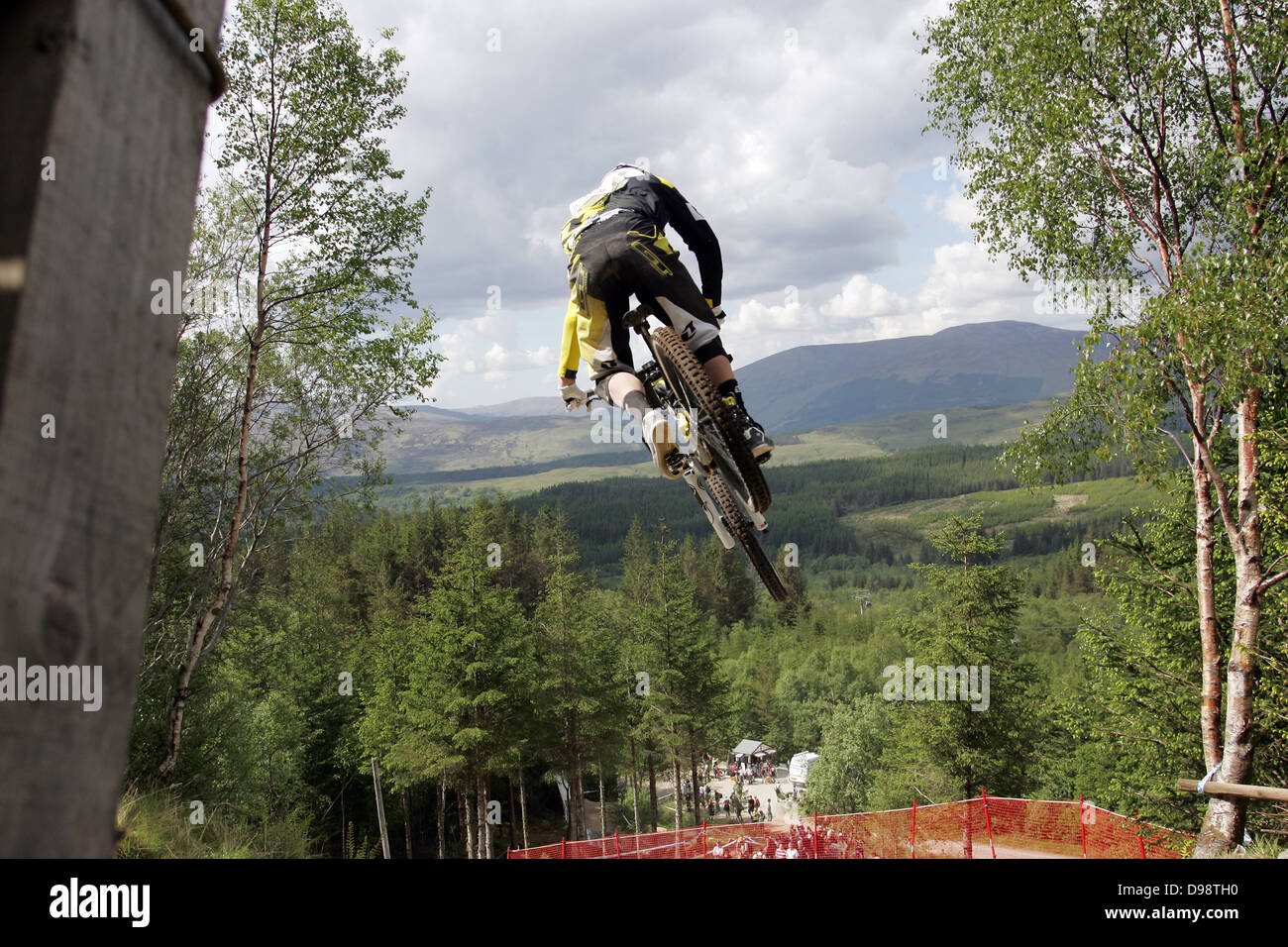 b343302657a Marc Beaumont GT Factory Racing on the course at the World Cup Downhill,  Fort William