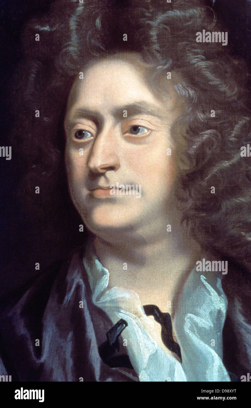 Henry Purcell (1659-1695) English composer. 'Portrait of 1695 by John Closterman (1660-1711). Music Musician - Stock Image