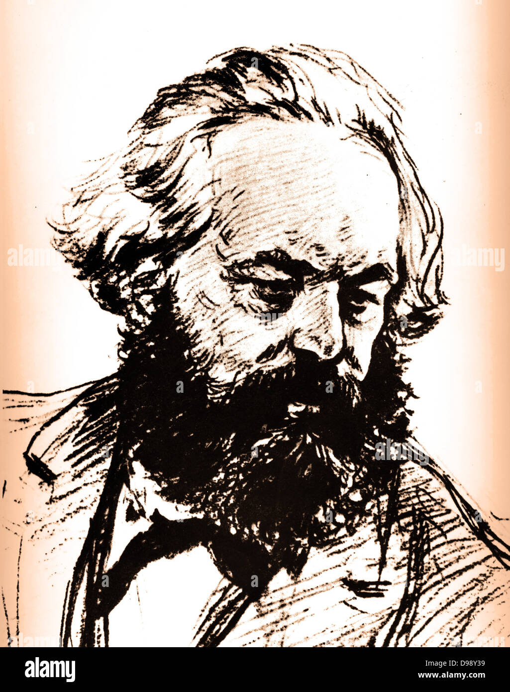 Karl Marx (1818-1883) Father of modern Communism. German political, social and economic theorist - Stock Image