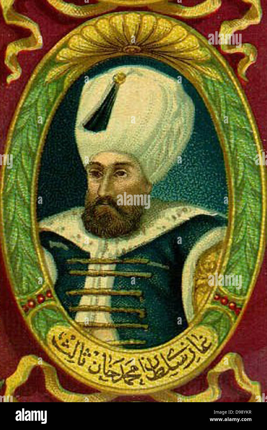 Murad III (4 July 1546 – 15/16 January 1595) was the Sultan of the Ottoman Empire from 1574 until his death - Stock Image