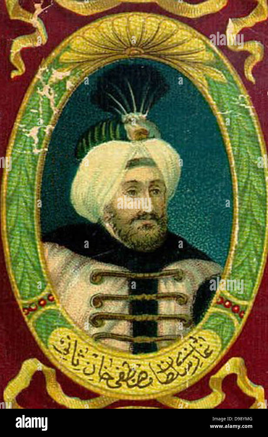 Mustafa II Ghazi (1664 – 1703) was the Sultan of the Ottoman Empire from 1695 to 1703 - Stock Image