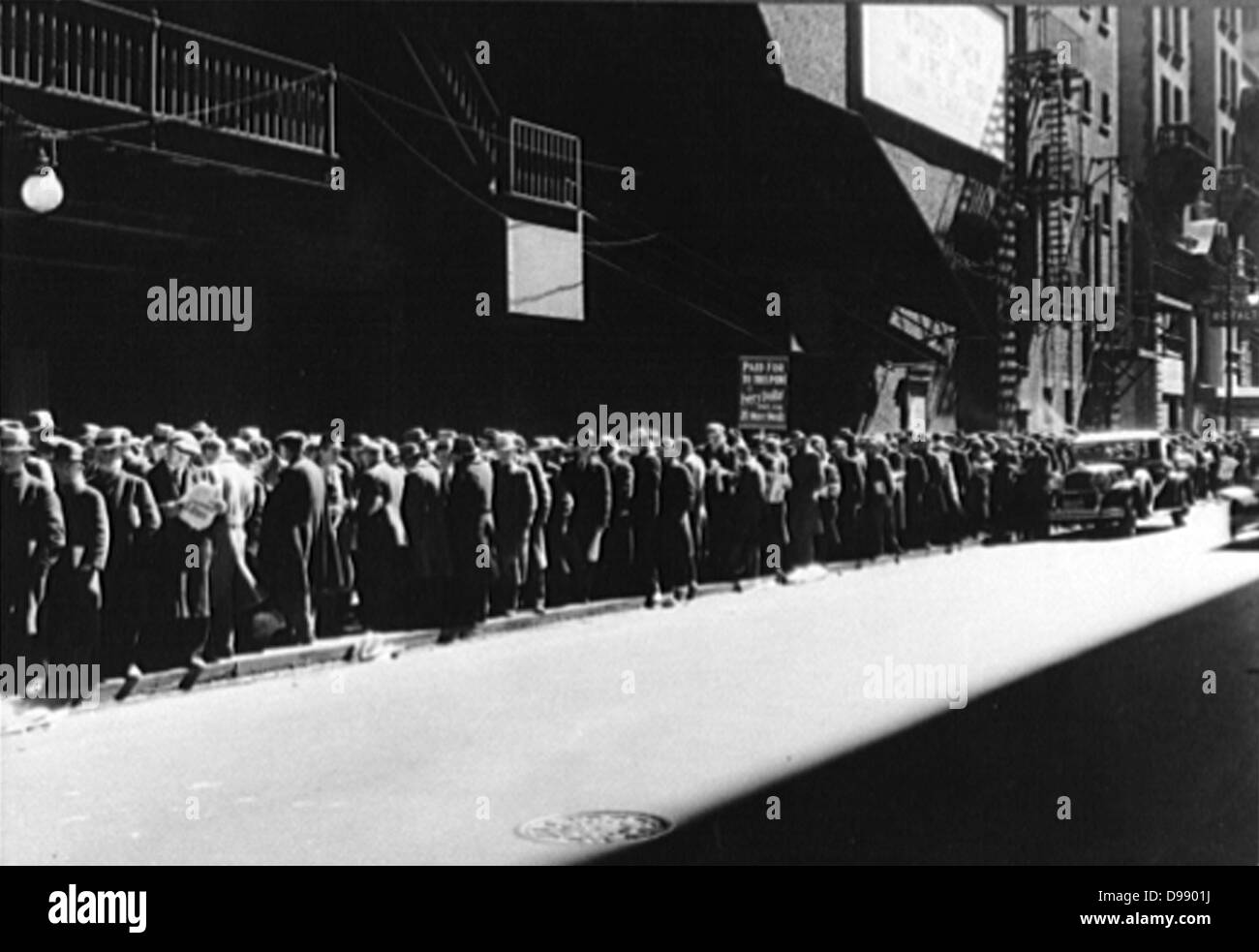 Soup kitchen in the USA 1930's during the Great Depression. - Stock Image