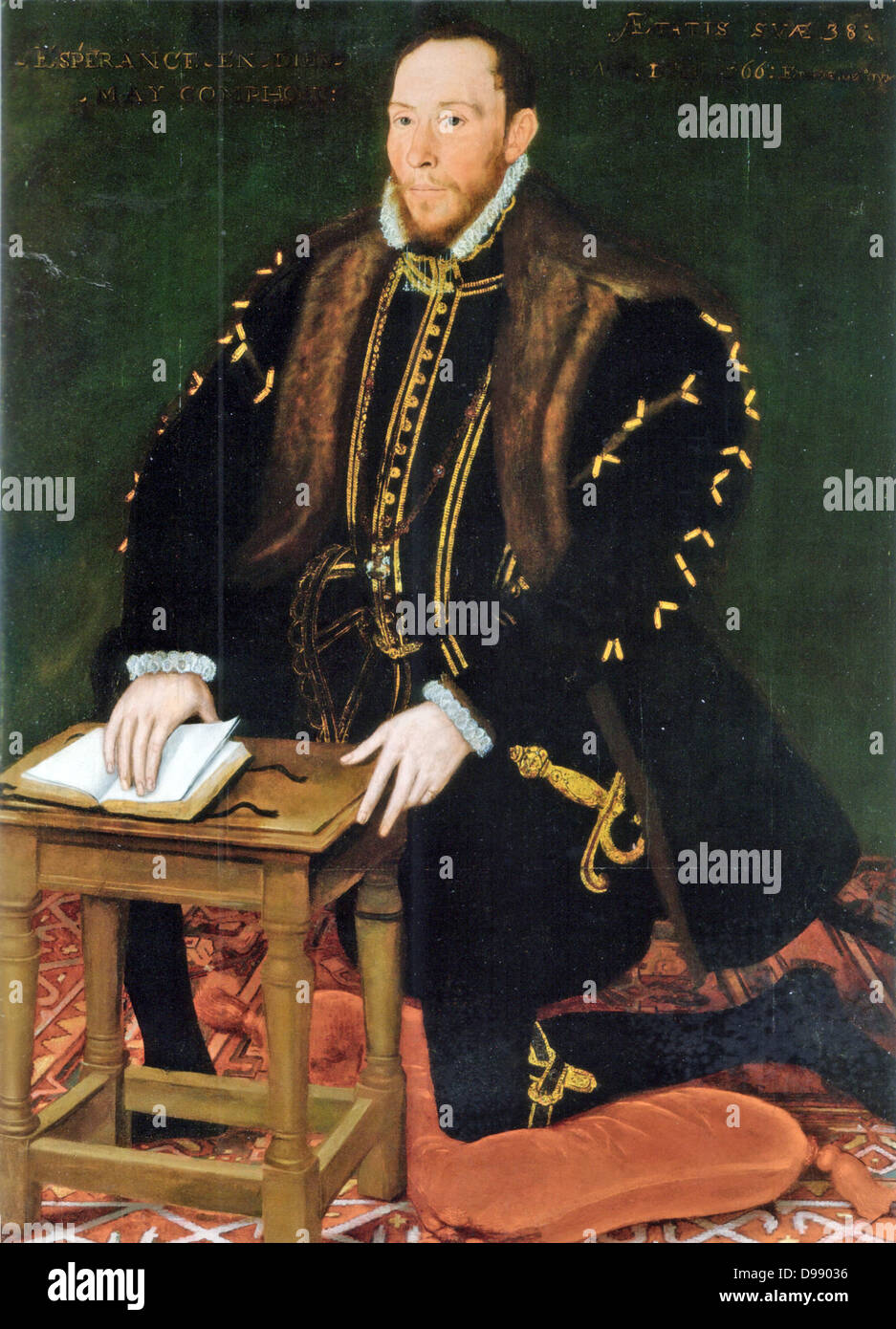 Thomas Percy, 7th Earl of Northumberland KG (1528 - 22 August 1572) led the Rising of the North and was executed - Stock Image