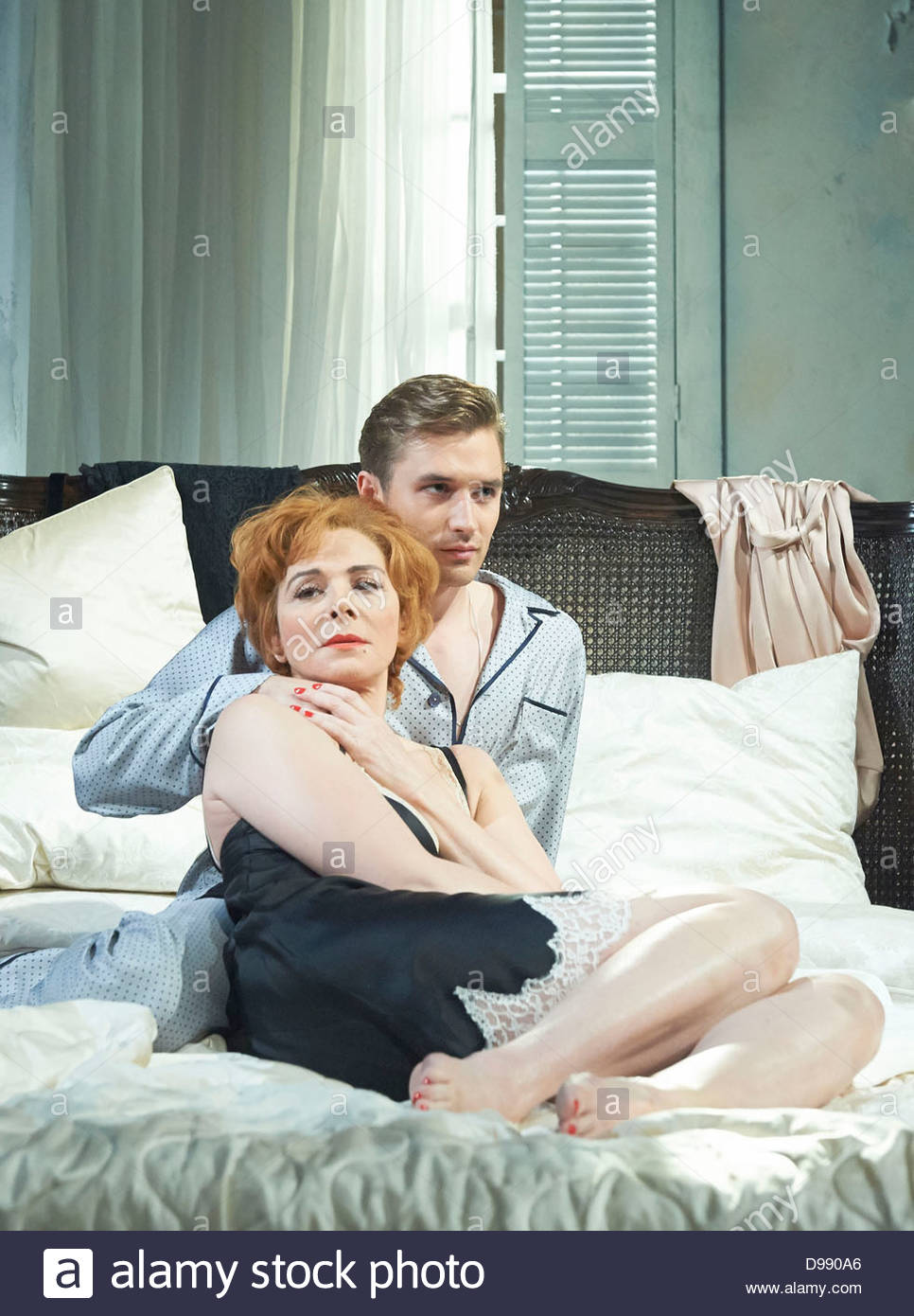 Sweet Bird of Youth by Tennessee Williams directed by Marrianne Elliott. With Kim Cattrall as Alexandra Del Lago, Stock Photo