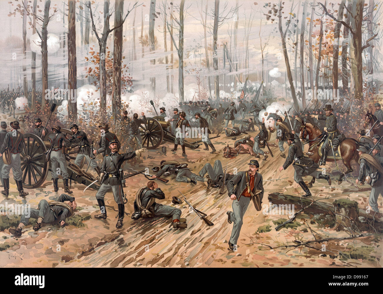 Battle of Shiloh (Battle of Pittsburgh Landing), Tennessee, 6-7 April 1862. Major battle in American Civil War 1861 - Stock Image