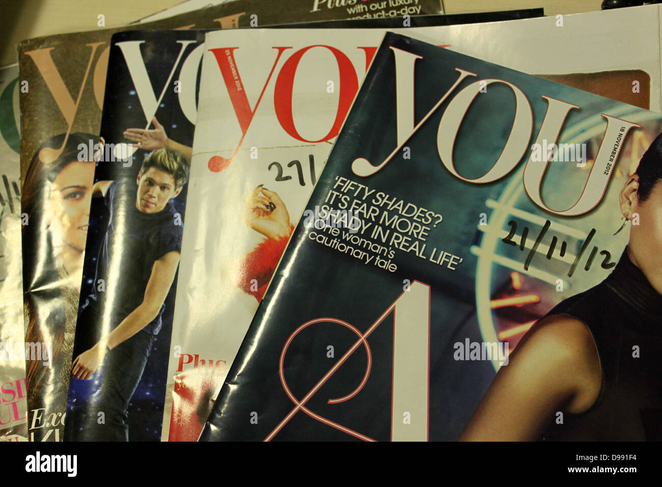 Copies of You magazine,  The Mail on Sunday - Stock Image