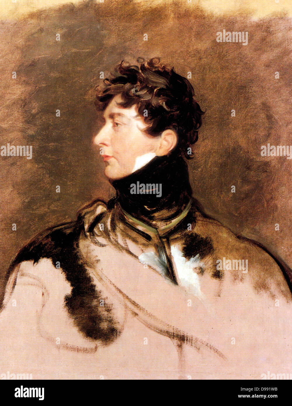 George IV by Sir Thomas Lawrence. George IV 1762 –1830, King of the United Kingdom of Great Britain and Ireland - Stock Image