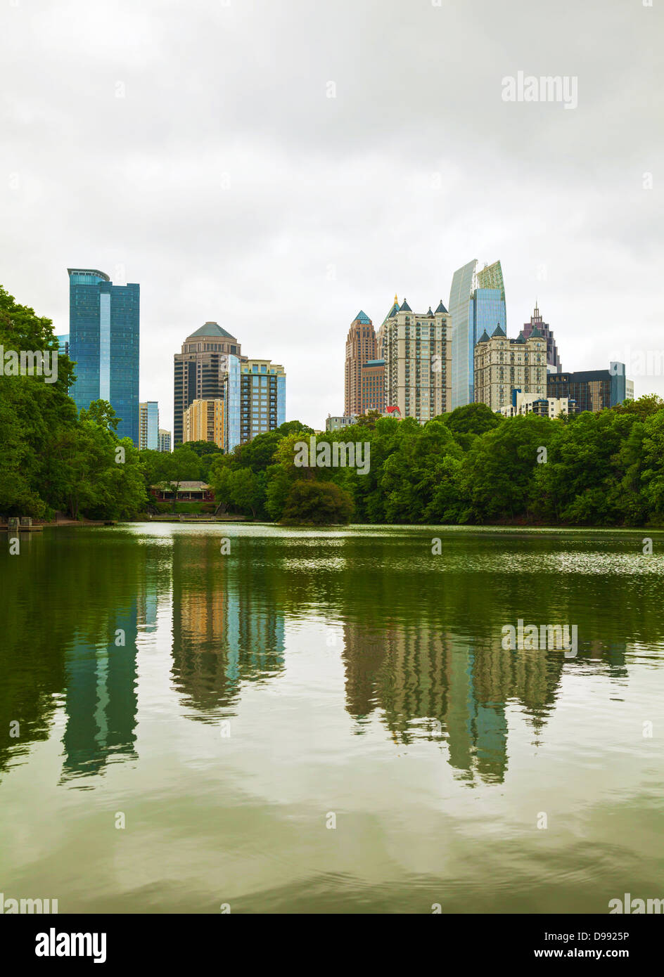 Midtown Atlanta, Georgia on a cloudy day - Stock Image